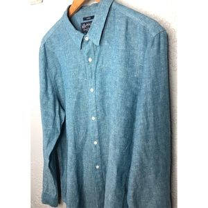 American rag linen men's shirt L